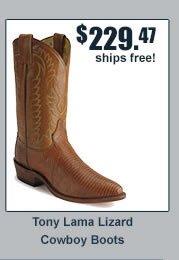 Tony Lama Lizard Cowboy Boots