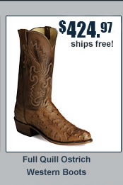 Lucchese Ostrich Full Quill Western Boots