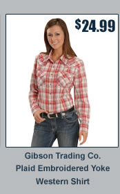 Exclusive Gibson Trading Co. Plaid Yoke Western Shirt