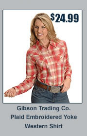 Gibson Plaid Embroidered Yoke Shirt