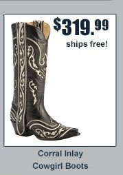 Corral Inlay Cowgirl Boots