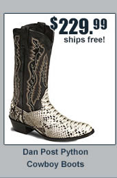 Dan Post Python Cowboy Boots