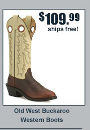 Old West Buckaroo Western Boots