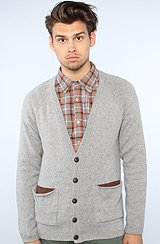 The Connley Cardigan in Heather Grey