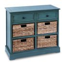 Wood Cabinet with Wicker Baskets
