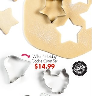 Wilton® Holiday Cookie Cutter Set $14.99