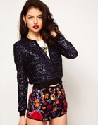 ASOS Bomber in Sequin