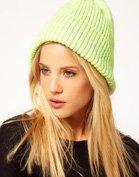 ASOS Neon Rib Boyfriend Knit Beanie