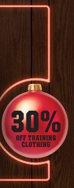 30% OFF TRAINING CLOTHING