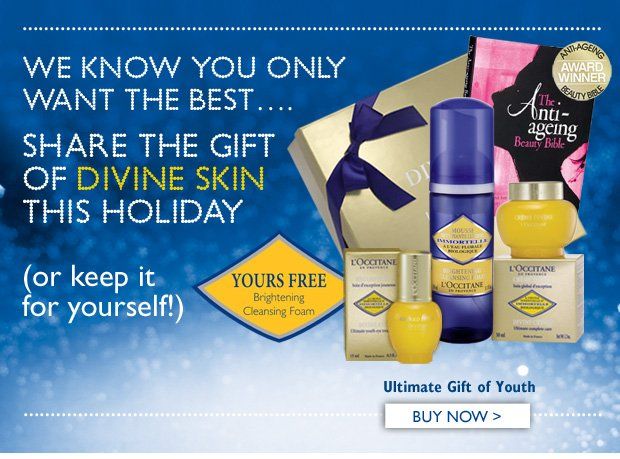 We Know You Only Want The Best...   Share the Gift of Divine Skin This Holiday  (or keep it for yourself!)