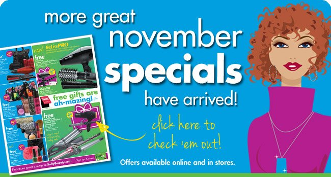 more great november specials have arrived!
