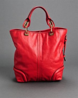 >Chloe LU Paraty Large Genuine Leather Tote