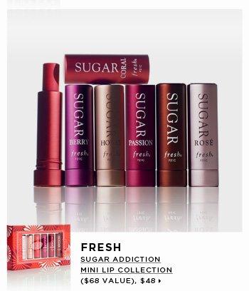new . exclusive. Fresh Sugar Addiction Mini Lip Collection ($68 Value), $48