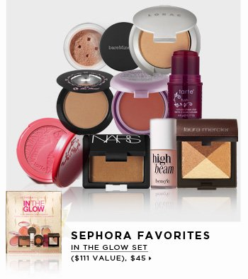new . exclusive. limited edition. SEPHORA FAVORITES In The Glow Set ($111 Value), $45
