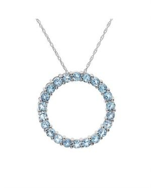 Ladies Topaz Necklace Designed In 10K White Gold  $79