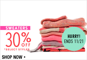 Sweaters 30% Off - Shop Now
