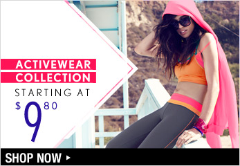 Activewear Collection Starting at $9.80 - Shop Now