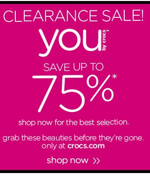Clearance Sale! You by Crocs™ - Save Up To 75% - shop now