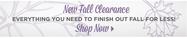 Shop Fall Clearance