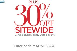 Plus! 30% off Sitewide - some exclusions apply