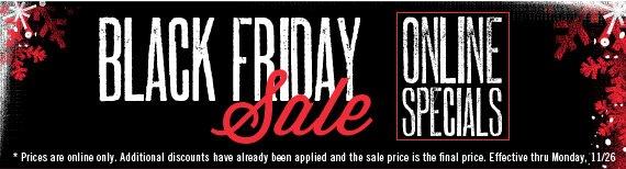 Black Friday Online Specials