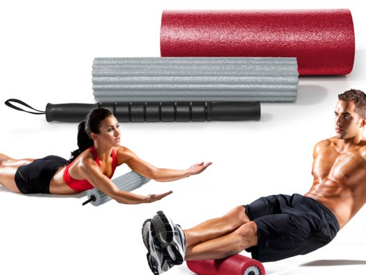 The rolling massage stick is great to use on sore, tired muscles.
