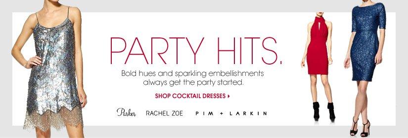 PARTY HITS. SHOP COCKTAIL DRESSES