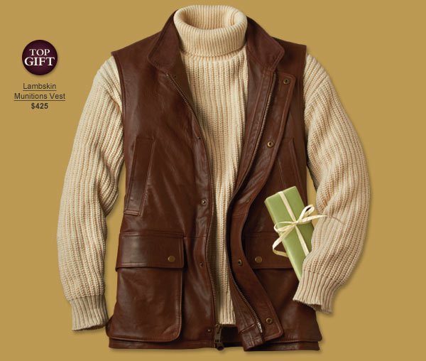 Top Gift - Lambskin Munitions Vest | $425