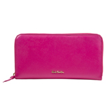 Paul Smith Purses - Pink Saffiano Leather Zip Around Purse