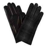 Paul Smith Gloves - Black And Grey Check Suiting Gloves
