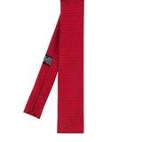 Paul Smith Ties - Red Square End Jacquard Stripe Tie