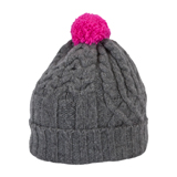 Paul Smith Hats - Grey Cable Knit Bobble Hat