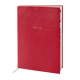 Paul Smith Stationary - Red Saffiano Leather Notebook