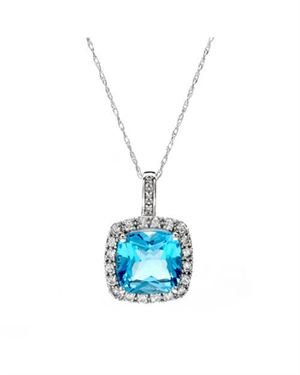 Ladies Topaz Necklace Designed In 10K White Gold  $119