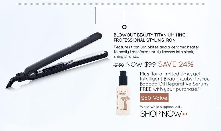 Blowout Beauty Titanium 1 Inch Professional Styling Iron