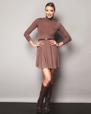 Ya Los Angeles Turtleneck Sweater Dress