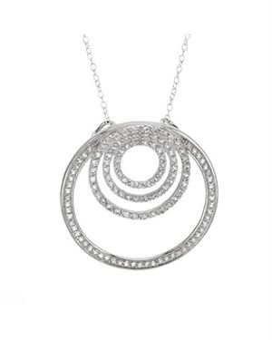 Ladies Topaz Necklace Designed In 925 Sterling Silver