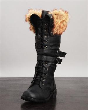 Nature Breeze Lug Fur Boots