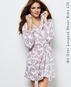 All Over Leopard Heart Robe