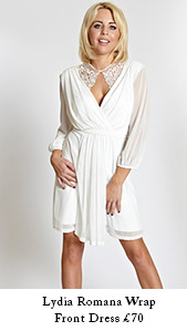 Lydia Romana Wrap Front Dress