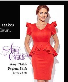 Amy Childs Peplum Shift Dress