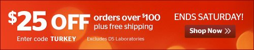 $25 off orders over $100