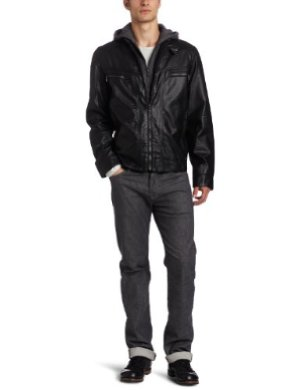 Calvin Klein <br/> Faux-Leather Moto Jacket