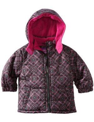Pink Platinum <br/>Puffer Geo Printed Jacket