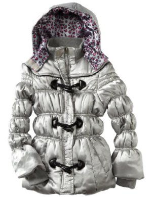 Pink Platinum <br/>Satin Toggle Puffer Jacket