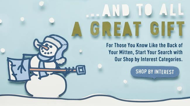 Start Your Search with Our Shop by Interest Categories