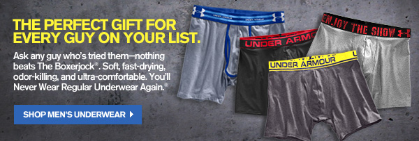 THE PERFECT GIFT FOR EVERY GUY ON YOUR LIST. SHOP MEN'S UNDERWEAR
