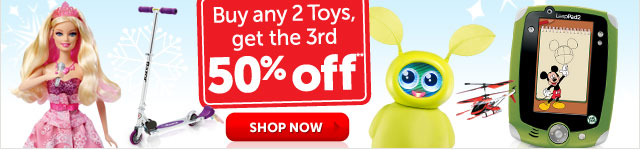 Buy any 2 Toys, get the 3rd 50% off** - Shop Now