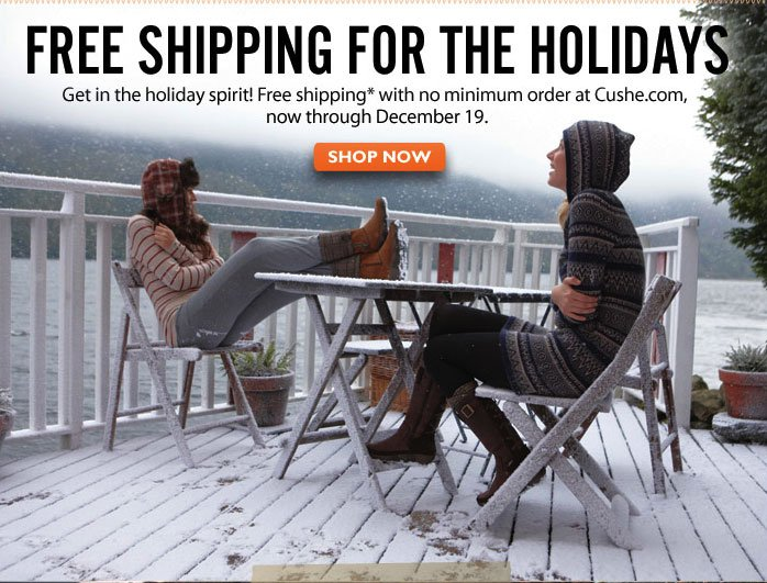 Free Shipping for the Holidays Shop Now