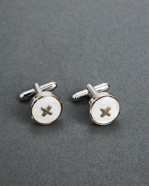 Joseph Abboud X Accented Circle Cuff Links $22
